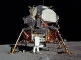 Buzz Aldrin at the moon landing