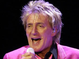 Rod Stewart performs live at Caesars Palace in Las Vegas