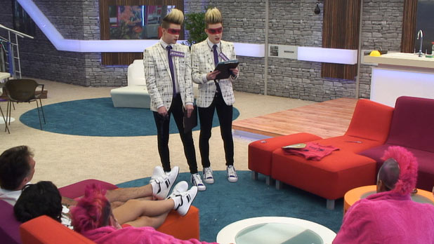 Jedward play the Twin Task in Celebrity Big Brother 2011