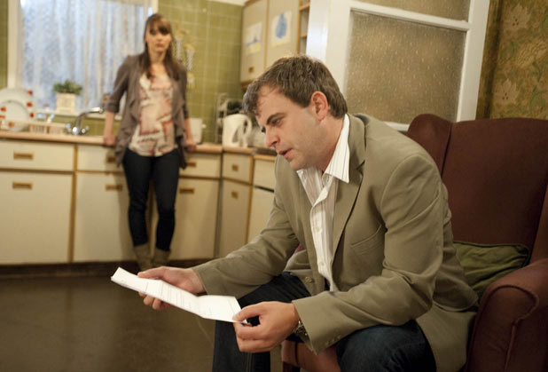 Steve McDonald (Simon Gregson) and Tracy Barlow (Kate Ford)