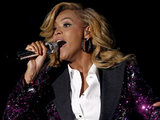 Beyonce performing at the VMA's 2011.