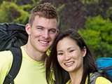 Engaged couple Ernie Halvorsen and Cindy Chiang
