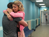 Jodie comforts Anthony as Darren looks on