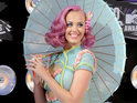 Katy Perry reveals that she sleeps in a dentist chair when she gets her make-up done.