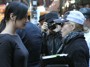 Abbie Cornish and Madonna filming 'W.E.' on location