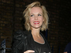 Amanda Holden leaving the Theatre Royal in Drury Lane