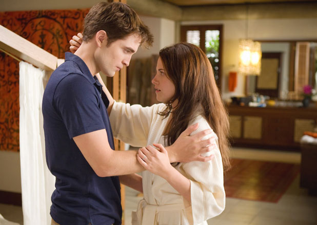 Edward and Bella share a moment