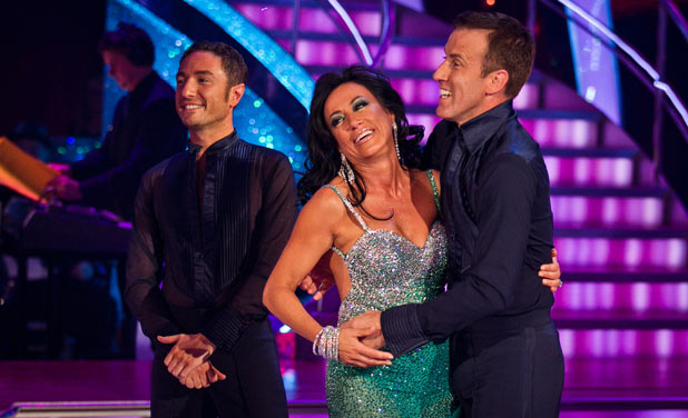 Nancy Dell'Olio and Anton du Beke