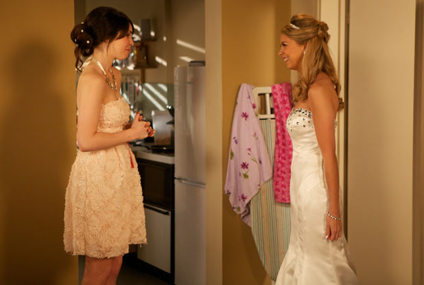 Darren Miller (Charlie G. Hawkins) and Jodie Gold's (Kylie Babbington) wedding preparations