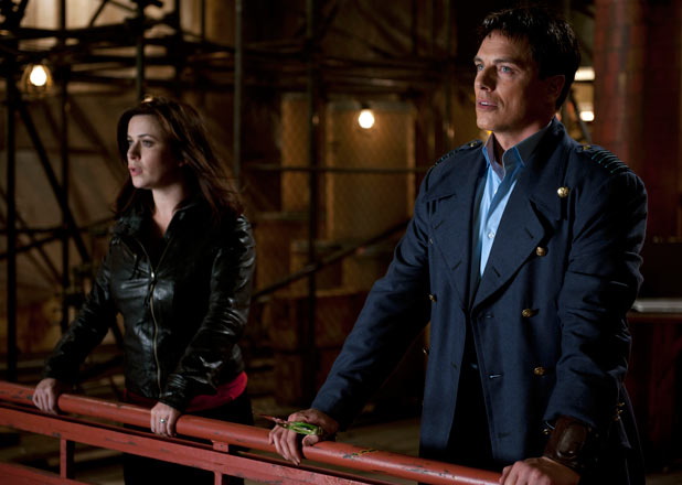 Gwen Cooper and Captain Jack Harkness