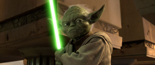Yoda ready for action