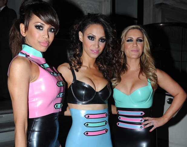 The Sugababes leave their hotel to perform at G-A-Y