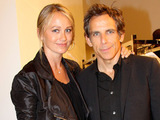 Christine Taylor and Ben Stiller attend Fashion's Night Out in New York City