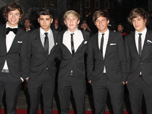 One Direction arriving at the 2011 GQMen of the Year Awards