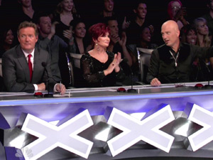 Piers Morgan, Sharon Osbourne, Howie Mandel judge America's Got Talent