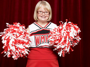 Lauren Potter returns as Becky in Season Three of Glee