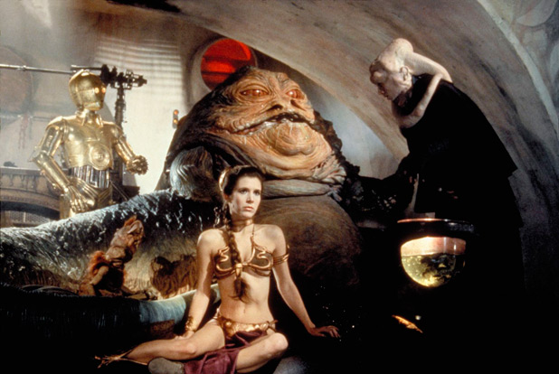 Jabba and Princess leia