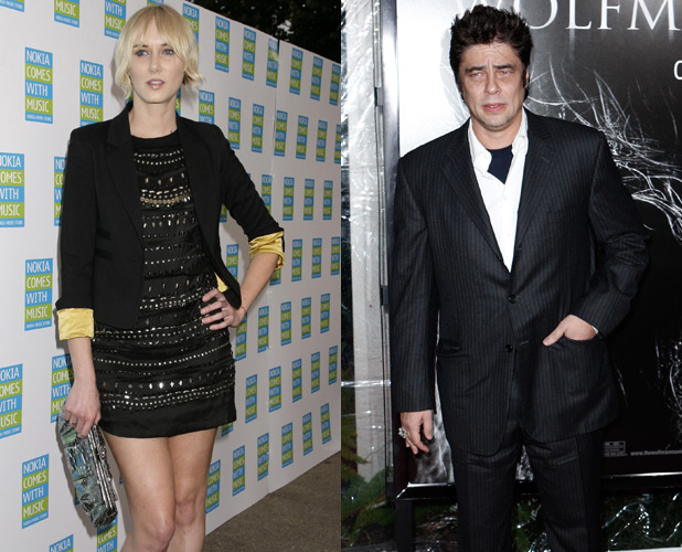 Kimberly Stewart and Benecio Del Toro