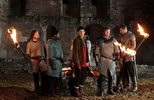 Arthur, Merlin and the knights