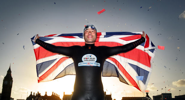 David Walliams completes his charity swim along the River Thames