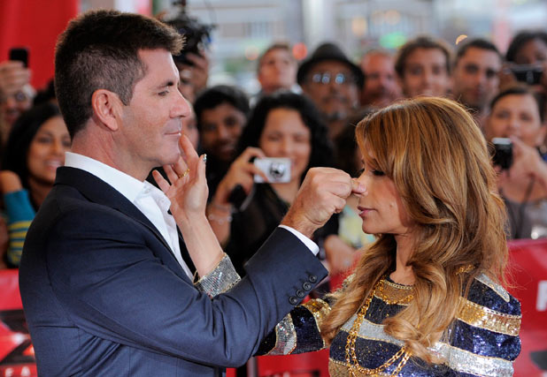 The X Factor USA Premiere: Simon and Paula messing about