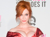Christina Hendricks at the New York premiere of 'I Don't Know How She Does It'