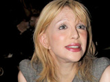 Courtney Love at the Alexander Wang show for NY Fashion Week