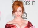Christina Hendricks says she feels very comfortable being naked.
