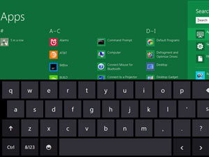Windows 8 screenshot - Keyboard page