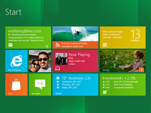 Windows 8 screenshot - Start screen