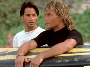 Patrick Swayze and Keanu Reeves in 'Point Break'