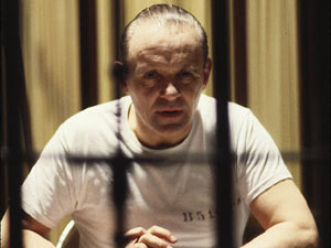 Anthony Hopkins as Hannibal Lecter in 'Silence of the Lambs'