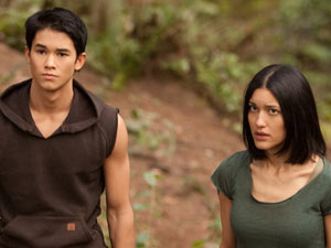 Seth Clearwater (Booboo Stewart) and Leah Clearwater.