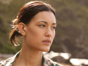 Julia Jones is back as the shape-shifting werewolf Leah Clearwater.