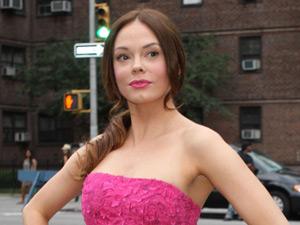 Rose McGowan at NY Fashion Week