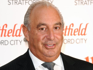 Philip Green at the Westfield Stratford City opening
