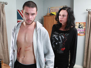 Chas finds blood on Aaron and realises he has been self harming
