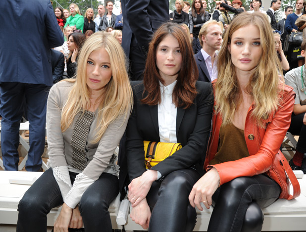 Sienna Miller, Gemma Arterton and Rosie Huntington-Whiteley