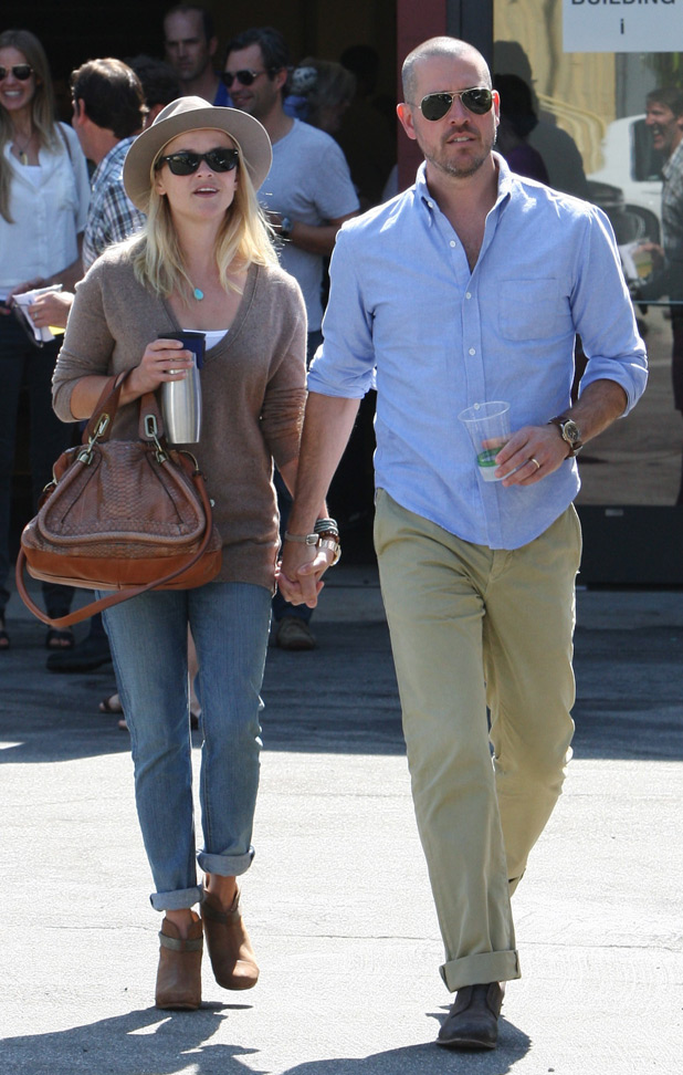 Reese Witherspoon and husband Jim Toth out and about in Santa Monica Los Angeles