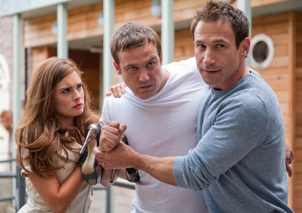 Warren Fox (Jamie Lomas) gets jealous.