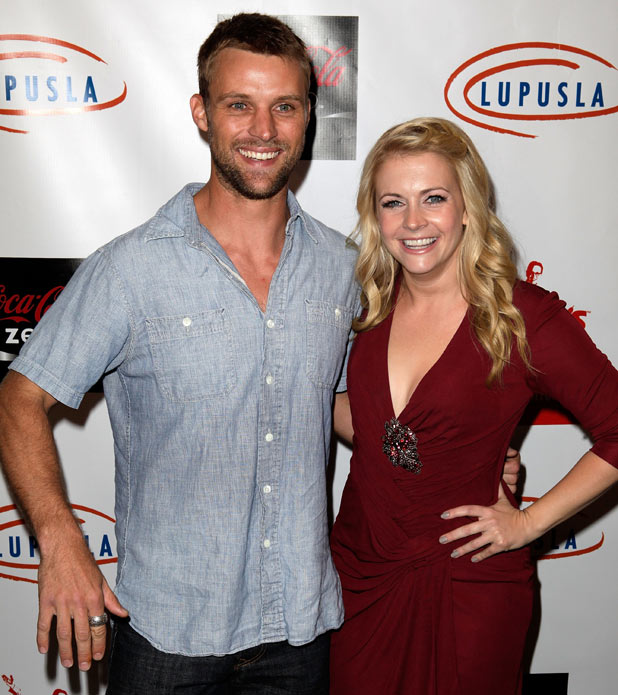 "Jesse Spencer and Melissa Joan Hart arrive for the ""Get Lucky for Lupus LA!"" event"