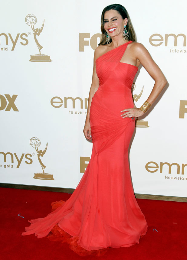 Sofia Vergara on the red carpet at the 63rd Primetime Emmy Awards