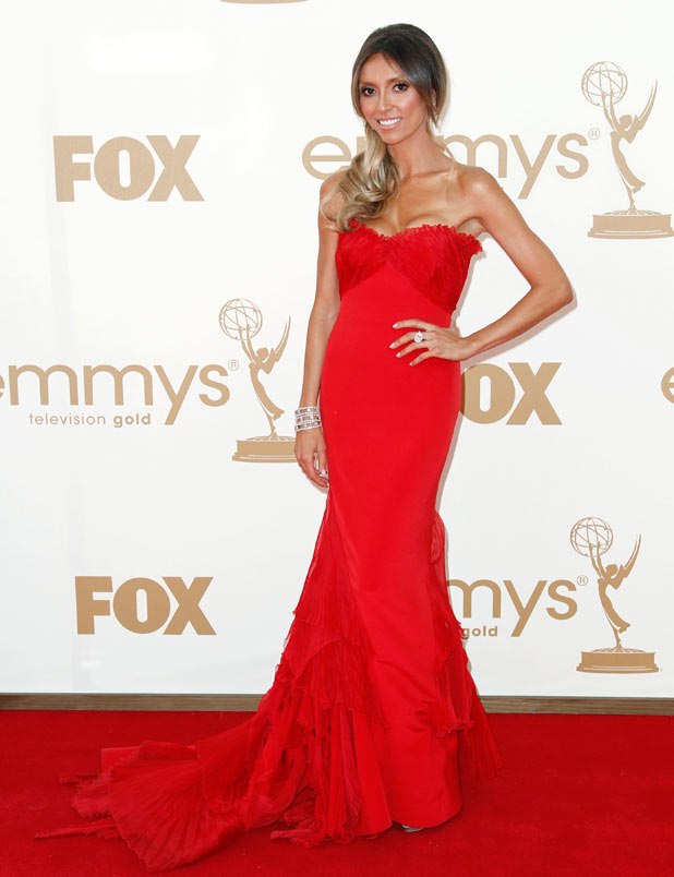 Giuliana Rancic on the red carpet at the 63rd Primetime Emmy Awards
