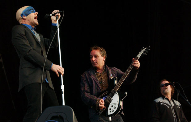 R.E.M. performing in Hyde Park