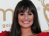 Lea Michele on the red carpet at the 63rd Primetime Emmy Awards