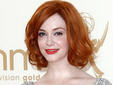 Christina Hendricks on the red carpet at the 63rd Primetime Emmy Awards