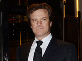 Colin Firth leaves 45 Park Lane, London.