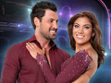 Maksim Chmerkovskiy is seen remonstrating with Len Goodman on Monday's show.