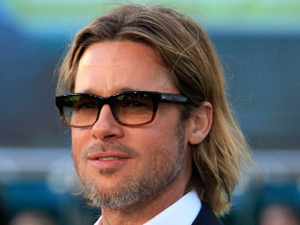 Brad Pitt attends the premiere of &#39;Moneyball&#39; in aid of charity at the Paramount Theatre of the Arts in Oakland, California