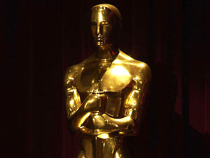 An Oscars trophy